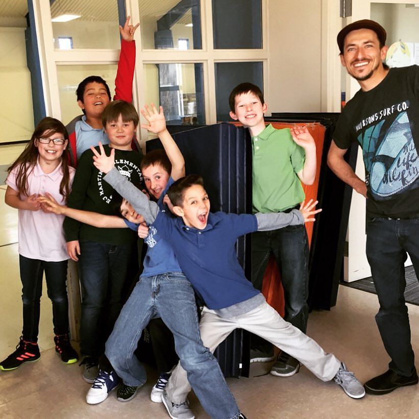 Circus Comes to School at EJ Martinez